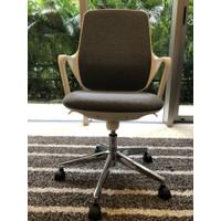Study Chair / Kursi Kerja / Office Chair - Waterproof Fabric - Grey - Abu-abu