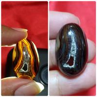 Batu Akik Yaman Kencono Asli Natural Combong Bolong