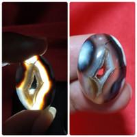 Batu Akik Combong Sulaiman Asli Natural Yaman Lubang Original