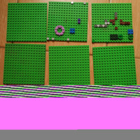 Part Lego Plate 16 x 16 Bright Green