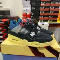 Sepatu Nike Air Jordan 4 Retro Union Of Noir Black Premium Original