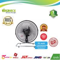 SEKAI Desk Fan/Wall Fan 2IN1 10 inch HFN1060 - Hitam