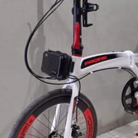 Tas sepeda lipat front block pasific element dahon - Hitam