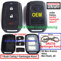 casing remote alarm oem toyota + gantungan a/n avanza g veloz new rush