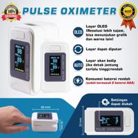 Fingertip Pulse Oximeter Oxymeter Alat Pengukur Detak Jantung - Putih