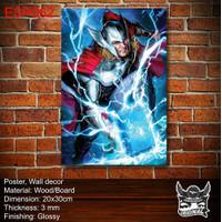 Cetak Poster Print foto Custom kayu bingkai MDF Hiasan dinding Thor