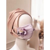 Masker Hijab Anti Air 3 Lapis/Ply (Hydrangea Edition) - Lilac