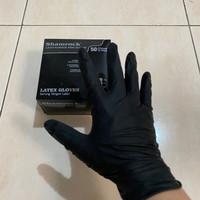 Sarung tangan latex hitam black merek shamrock - XS