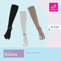 Rabbani Kaos Kaki Panjang Hitam Kaxit Remaja Wanita Socks Umroh Haji - Putih