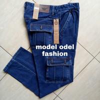 Celana Panjang jeans pria Cargo/Gunung/kantong samping