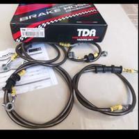 BRAKE HOSE SELANG REM TDR BLACK CARBON HONDA ADV 150 CBS PCX LOKAL 150