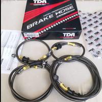 BRAKE HOSE SELANG REM TDR BLACK CARBON SET NMAX 155 ABS 2016 - 2020