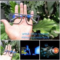 kacamata lensa blueray KOMPUTER/HP/LAPTOP/GAMERS/normal/minus/silinder