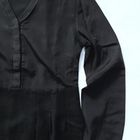 DRESS HITAM LENGAN PANJANG