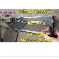 Dudukan Plat nomor mobil Dinas, Pejabat, Anggota Dewan, TNI & POLRI - Stainless Steel