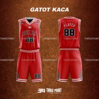 Threepoint Jersey Basket NBA CHICAGO BULLS Setelan Keren