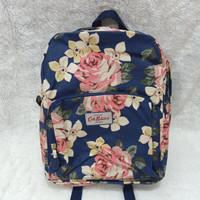 Tas Punggung Cath Kidston Flower Bunga Vintage Backpack Navy Sale