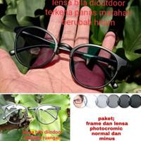 kacamata lensa photocromic berubah warna normal/minus/silinder