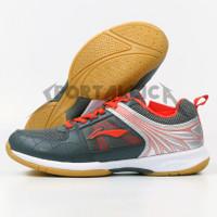 Sepatu Badminton Li-Ning / LiNing AYTQ082 Attack G6 Grey Red