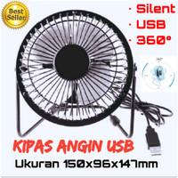 kipas angin portable usb / kipas angin mini / fan usb powerbank charge - Biru Muda