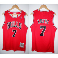 JERSEY BASKET NBA HWC BULLS #7 TONI KUKOC MERAH 97/98 MITCHELL&NESS