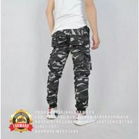 Celana joger pria army camo loreng pant forward