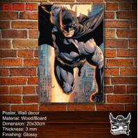 Cetak Poster Print foto Custom kayu bingkai MDF Hiasan dinding Batman