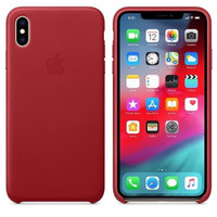 Apple iPhone XS MAX Leather Case Red Merah