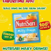 NutriSari Rasa MILKY JERUK!!! NutriSari MILKY JERUK Nutrisari Buah