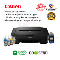 Printer Canon Pixma MG2570s All in One + infus Tabung Transparant