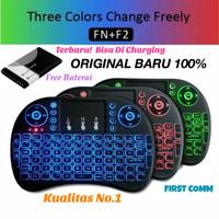 mini keyboard wireless i8 3 warna lampu backlight