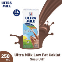 Ultra Low Fat Coklat 250 ml (1 karton isi 24 pcs)
