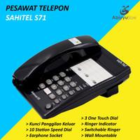 Pesawat Telepon Rumah Kantor Sahitel S71 Telephone Dinding - Hitam