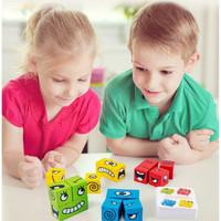 TweedyToys - Puzzle Kubus Ekspresi - Expression Puzzle Building Blocks