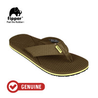 Fipper Refitt / Sandal Pria / Brown Dark Khakis
