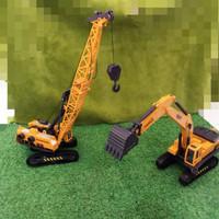 Mainan Cruzer toys Kingdom Kendaraan truck Konstruksi Crane excavator