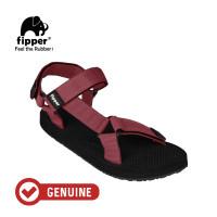 Fipper Trekker / Sandal Pria / Black Maroon