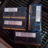 Ram laptop ddr3 2gb pc3 10600s merk Nanya 1333mhz 1.5 volt