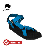 Fipper Trekker / Sandal Pria / Black Blue Snorkel