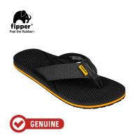 Fipper Refitt / Sandal Pria / Black Mustard