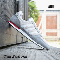 Sepatu Adidas Neo City Racer Grade Ori Biru Putih / sport casual pria