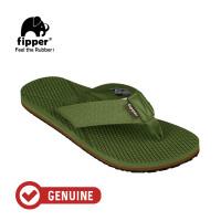 Fipper Refitt / Sandal Pria / Green Army Brown