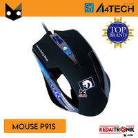 Mouse Gaming P91S Wired LED Spirit Of Gamers Mouse USB A4tech P91S