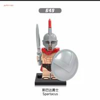 Lego Minifigure Army Spartan Sparta Spartacus Silver Tentara Romawi