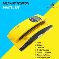 Telepon Kabel Sahitel S35 | Telephone Dinding Rumah Kantor - Yellow