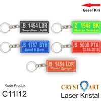 Gantungan kunci Custom Plat Nomor akrilik bening
