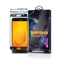 Tempered Glass Samsung Galaxy J7 Duo Full Cover Black - Premium Glass