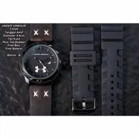 jam tangan pria super premium ander amour kulit set free rubber - coklat hitam