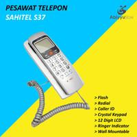 Pesawat Telepon Rumah Kantor Dinding Sahitel S37 Kabel - SILVER