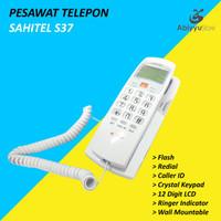 Pesawat Telepon Rumah Kantor Dinding Sahitel S37 Kabel - PUTIH